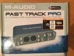 Carte de son M-Audio Fast Track Pro comme neuve!!!