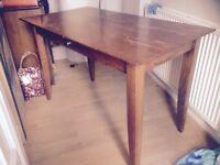 Solid oak desk-chocolate colour