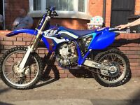 Yamaha yzf 250cc off road 2007 model moped crosser dirtbike off road quad