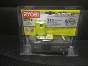 NEW! Ryobi P107 18V 1.5AH compact LI-ON battery pack with gauge