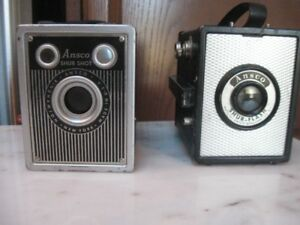 TWO ANTIQUE BOX CAMERAS-ANSCO SHUR-FLASH & ANSCO SHUR SHOT