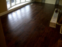 Laminate and Hardwood flooring installed from $1.00 per sq. ft.!