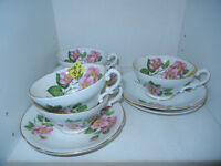 Stanley fine bone China Alberta Rose. Tea Cup and Saucer