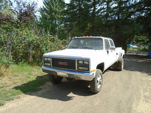 1989 GMC 3500 1 ton crewcab dually 4x4 pu