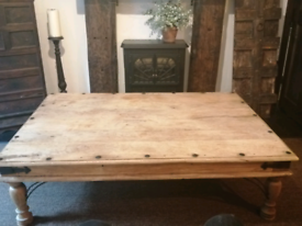 Beautiful Rustic Solid pine wood very large coffee table