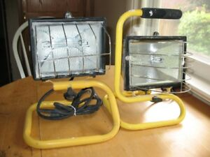2 Halogen Work Lamps
