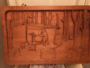 Antique wall carving -Maple Sugaring