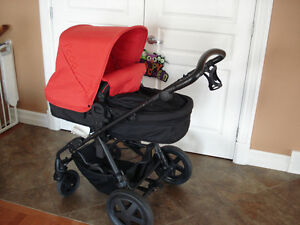 I'coo photon stroller - red and black