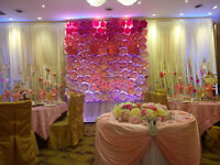 Wedding Decoration, Backdrop, Centerpiece, Flower and Rental