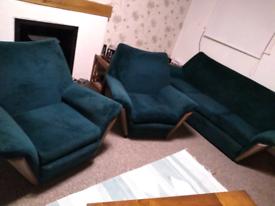Amazing 1960s deep velvet retro styled vintage sofa set