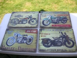 MAN CAVE WOOD HARLEY SIGNS