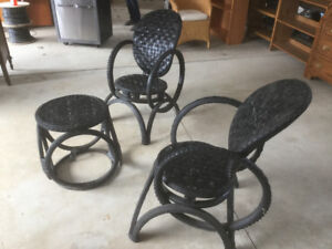 Coffee table set, bistro set, coffee table, chair, recliner