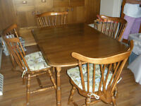 Vilas Maple Table and chairs