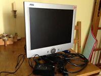 "AOC LCD 15"" flat screen monitor"