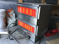 Commercial Deep fryer and Hotdog cooker