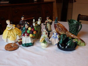 Collection of Royal Doulton Figurines, etc.