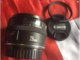 CANON EF 28mm PRIME AUTOFOCUS LENS, SUPERB IN FULL WORKING CONDITION!!