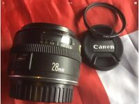 CANON EF 28mm PRIME AUTOFOCUS LENS, SUPERB IN FULL WORKING CONDITION!!
