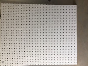 4 foot x 3 foot white peg board $3 each 30 pcs