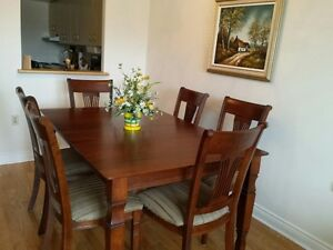 Moving Sale - Dining Table with 6 Chairs