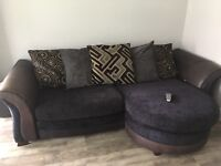 4 seater sofa (L shaped) and arm chair