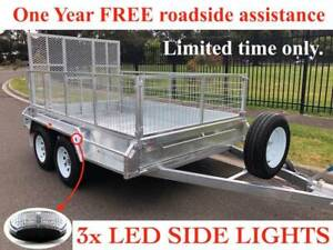 12x6 Box trailer tandem Galvanised with 1.5m Ramp 600mm Cage 2000kgs