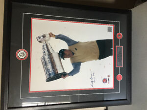 Authentic signed Scotty bowman picture and frame