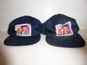 2 COLLECTIBLE VINTAGE ELVIS PRESLEY BASEBALL CAPS - NEVER WORN