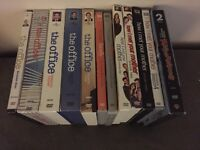 Various tv DVDs, regular DVDs and blurays for sale