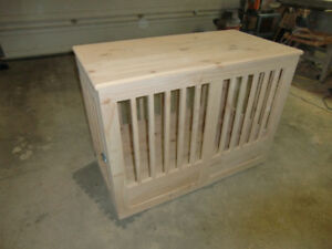 HAND CRAFTED WOOD DOG CAGE