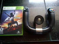 Xbox 360 Wireless Speed Wheel & F1 Game