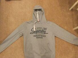 Men's XL Superdry hoodie grey