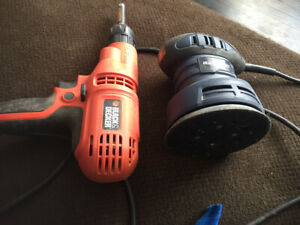 Tools sander and drill