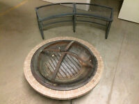 Outdoor Fire Pit with Bench
