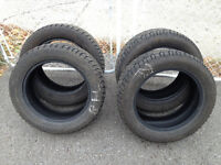 4 GISLAVED PNEUS D'HIVER/WINTER TIRES, 205/55/16