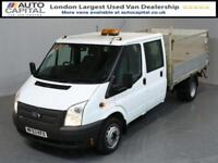 FORD TRANSIT 2.2 350 DRW 4D 124 BHP LR LWB DOUBLE CAB 6 SEAT TAIL LIFT FITTED