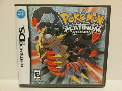 Pokemon Platinum Version Nintendo DS Replacement Case & Artwork - NO GAME