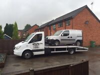 Recovery service van 4x4 car scrap damaged
