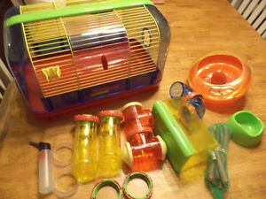 Cage et accessoire pour hamster