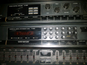 Vintage sansui tuner, eq, and preamp.