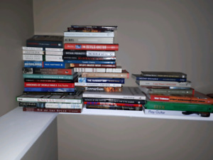 Military history books and a couple others