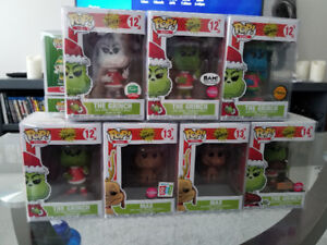 The Grinch set of 7 Funko Pops
