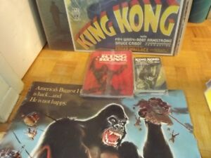 KING KONG PACKAGE DEAL:2 MOVIE POSTERS+2 HARDCOVER BOOKS