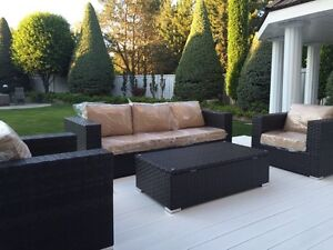 BRAND NEW Luxury Outdoor Wicker Patio Set! The Miami Collection