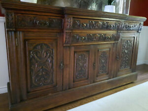 Antique 1850's Scottish Oak Sideboard