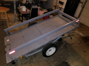 8x3.5ft tilt deck utility trailer.