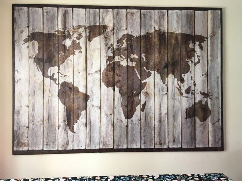 Large Ikea Map Canvas In Llantwit Major Vale Of