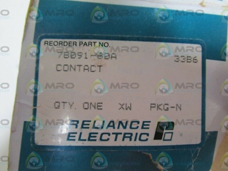 RELIANCE ELECTRIC CONTACTOR 78091-60A *NEW IN BOX *