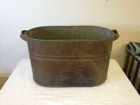 Antique copper boiler pot