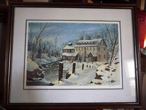 "Hand Signed and Numbered by Peter Robson ""Benmiller Inn"" 1983"